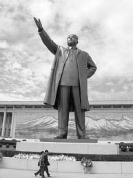 The Mansudae Grand Monument. The towering 150-foot-tall statue of Kim Il-Sung was built for the leaders 60th birthday.
