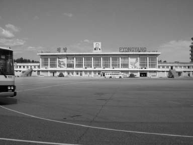Pyongyang Airport. The main airport is very small for a nation of 22 million people, but it services the nation