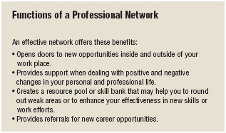 Developing an effective professional network offers many benefits.