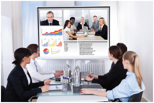 With today's technology, individuals at different work sites throughout an organization can be trained simultaneously.