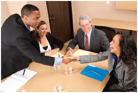 It is important to maintain a strong, confident demeanor while meeting prospective employers.