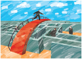 Overcoming obstacles in one's career is a common occurrence. It is the resiliency and creative thinking that will help you adapt and be able to build a bridges over common obstacles that will help you succeed in the long run.