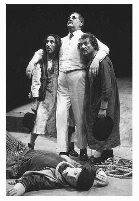A scene from the play Waiting for Godot, written by Samuel Beckett