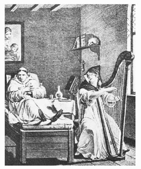 An illustration from The Monk, written by Matthew Gregory Lewis
