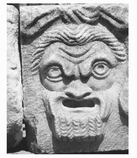 Sculpture of a Greek theater mask