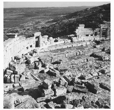 Ruins of a Greek theater and Roman amphitheater near Cyrene, Libya