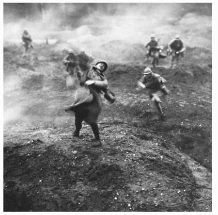 Images such as these from World War I influenced Richard Aldington