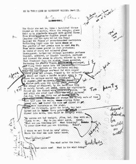 T. S. Eliots corrected proof for his poem The Waste Land