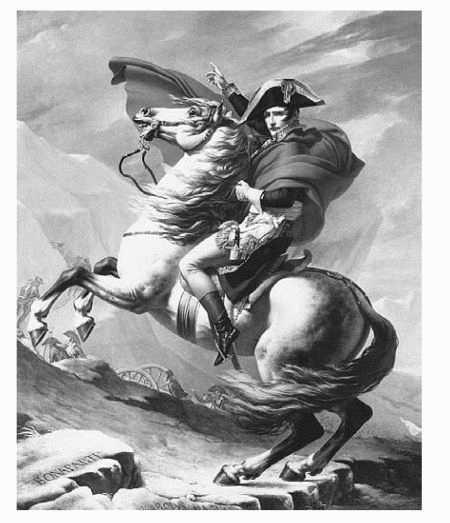 Napoleon at St. Bernard by neoclassicist painter Jacques-Louis David