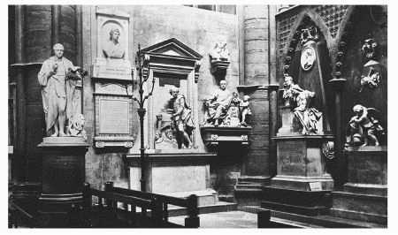 Poets Corner in Westminster Abbey