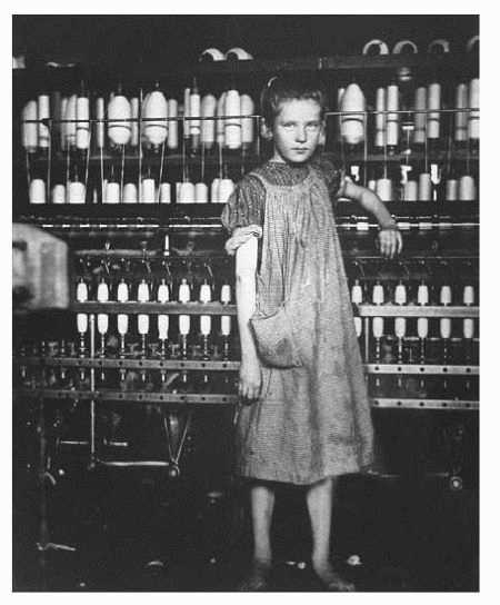 Child labor was common in factories in the nineteenth century