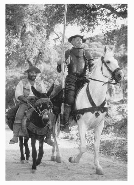 A scene from the television movie adaptation of Don Quixote by Miguel de Cervantes Saavedra