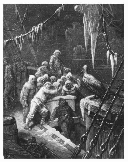 Nineteenth-century print of a scene from The Rime of the Ancient Mariner by Samuel Taylor Coleridge