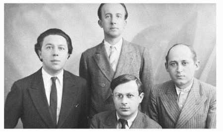 Andre Breton, Paul luard, Tristan Tzara, and Benjamin Peret