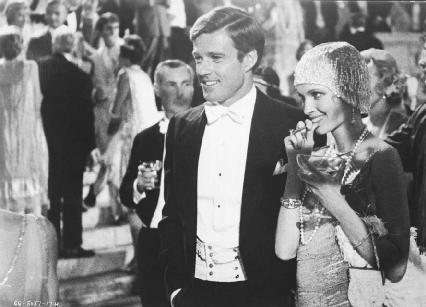 Robert Redford and Mia Farrow in a scene from the 1974 film The Great Gatsby