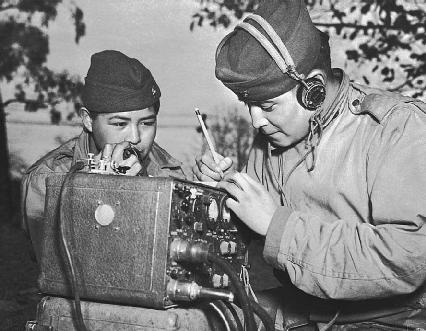 Navajo Code Talkers in the field