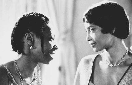Whoopi Goldberg and Margaret Avery in a scene from the film The Color Purple