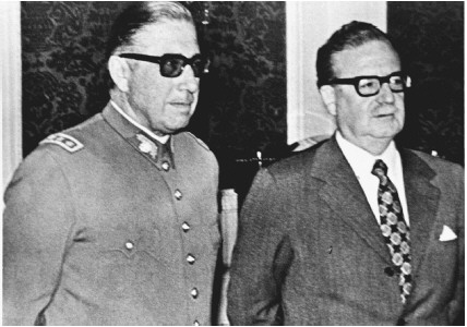 Salvador Allende and Augusto Pinochet