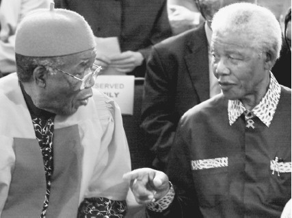 Chinua Achebe with Nelson Mandela