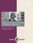 Milestone Documents in World History, ed. , v.