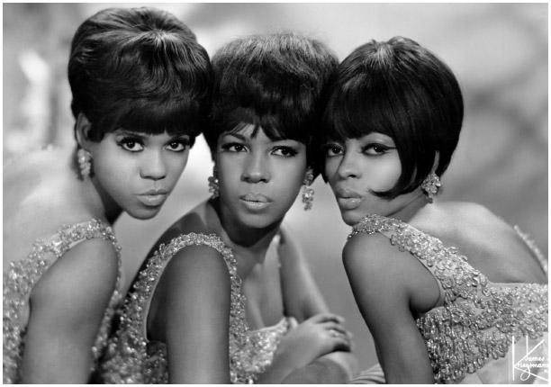Florence Ballard, left, Mary Wilson, and Diana Ross made up the Supremes, who had a string of pop hits for Motown Records in the 1960s.