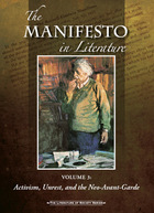 The Manifesto in Literature, ed. , v.