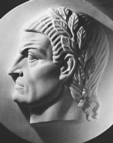 Justinian I, relief portrait by Gaetano Cecere.
