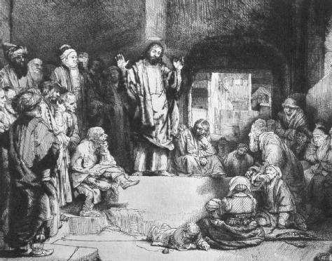 Christ Preaching by Rembrandt van Rijn, c. 1635. (Burstein CollectionCORBIS.)