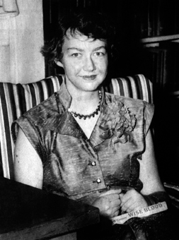 American novelist and short story writer Flannery O'Connor,