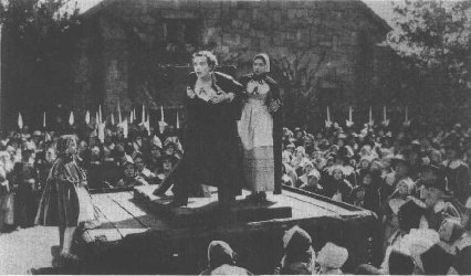 Scene from the film The Scarlet Letter, starring Lillian Gish and Lars Hanson, 1926.