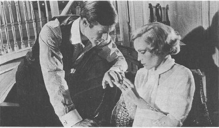 From the film The Great Gatsby, starring Robert Redford and Mia Farrow, Paramount, 1974.