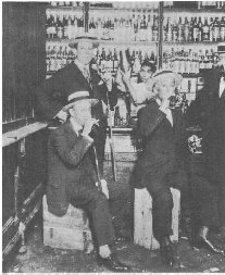 A speakeasy, where people could illegally purchase alcohol during Prohibition in the 1920s.
