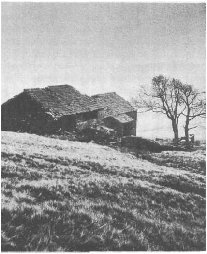 Top Withens, the farm which served as a model for the one in Wuthering Heights.