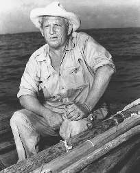 Spencer Tracy starring in the title role of the 1956 film The Old Man and the Sea.