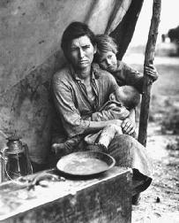 A migrant family in Nipomo, California, 1936.