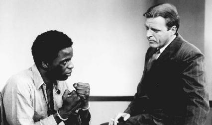 Victor Love (left) and David Rasche in the 1986 film Native Son.