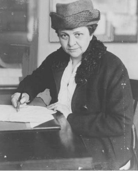 Frances Perkins served as U.S. Secretary of Labor from 1933 to 1945. As the first woman cabinet member, she was also the first woman to be in line for succession to the presidency.