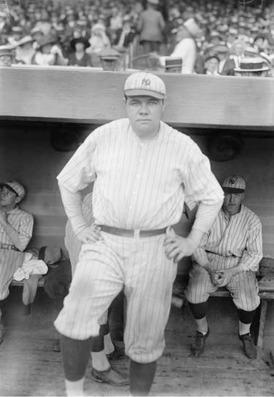Portrait of Babe Ruth, American baseball legend.