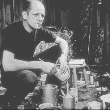 Instead of painting with brushes, artist Jackson Pollock dripped paint onto his canvases. His work was the center-piece of Abstract Expressionism, a style that made America the new center of the art world.
