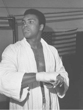 Muhammad Ali, born Cassius Clay, became heavyweight champion of the world at age 22 and was undefeated as a professional fighter for 11 years until he lost to Joe Fra-zier in The Fight of the Century in 1971.