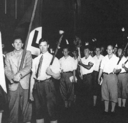 Nazi youth march in Berlin, 1933. (Archive Photos, Inc.)