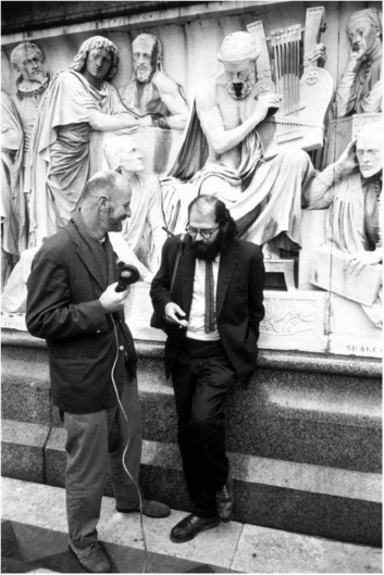 Allen Ginsberg (right) is interviewed by fellow Beat poet Lawrence Ferlinghetti in 1965. Rejecting the conventional values of postwar society, the Beat Generation brought a new energy and spontaneity to American literature and helped shape the 1960s