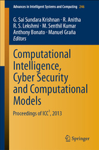 Computational Intelligence, Cyber Security and Computational Models, ed. , v.