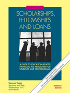 Scholarships, Fellowships and Loans, ed. 30, v.