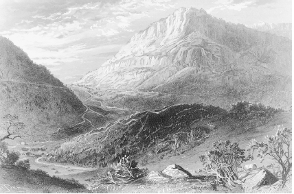 A painting of the Cumberland Gap by Harry Fenn. (Library of Congress.)
