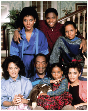The Cosby Show. The Cosby Show premiered in 1984 with a cast that included, clockwise from top left, Phylicia Rashad, Malcom-Jamal Warner, Tempestt Bledsoe, Lisa Bonet, Keshia Knight Pulliam, Bill Cosby, and Sabrina Le Beauf.