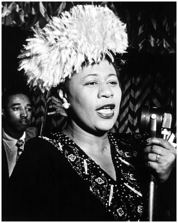 Ella Fitzgerald in the 1940s. Over the course of her fifty-nine-year recording career, Ella Fitzgerald won thirteen Grammy Awards and was presented with the National Medal of Arts and the Presidential Medal of Freedom.