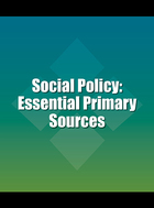 Social Policy: Essential Primary Sources Cover