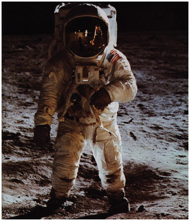 Edwin Buzz Aldrin is photographed on the surface of the Moon by Neil Armstrong. Since their historic steps on the lunar surface in July 1969, more than 510 peopleastronauts, cosmonauts, and even