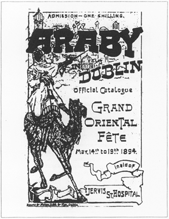 Front cover of the Araby festival program.